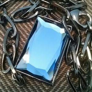 Chic Lia Sophia Blue Glass Necklace